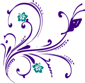 Beautiful clipart flower butterfly And purple%20flower%20border%20clipart Purple Free Panda