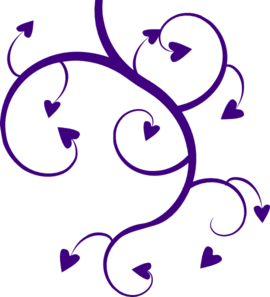 Wedding clipart double heart Free Images Heart Clip Purple