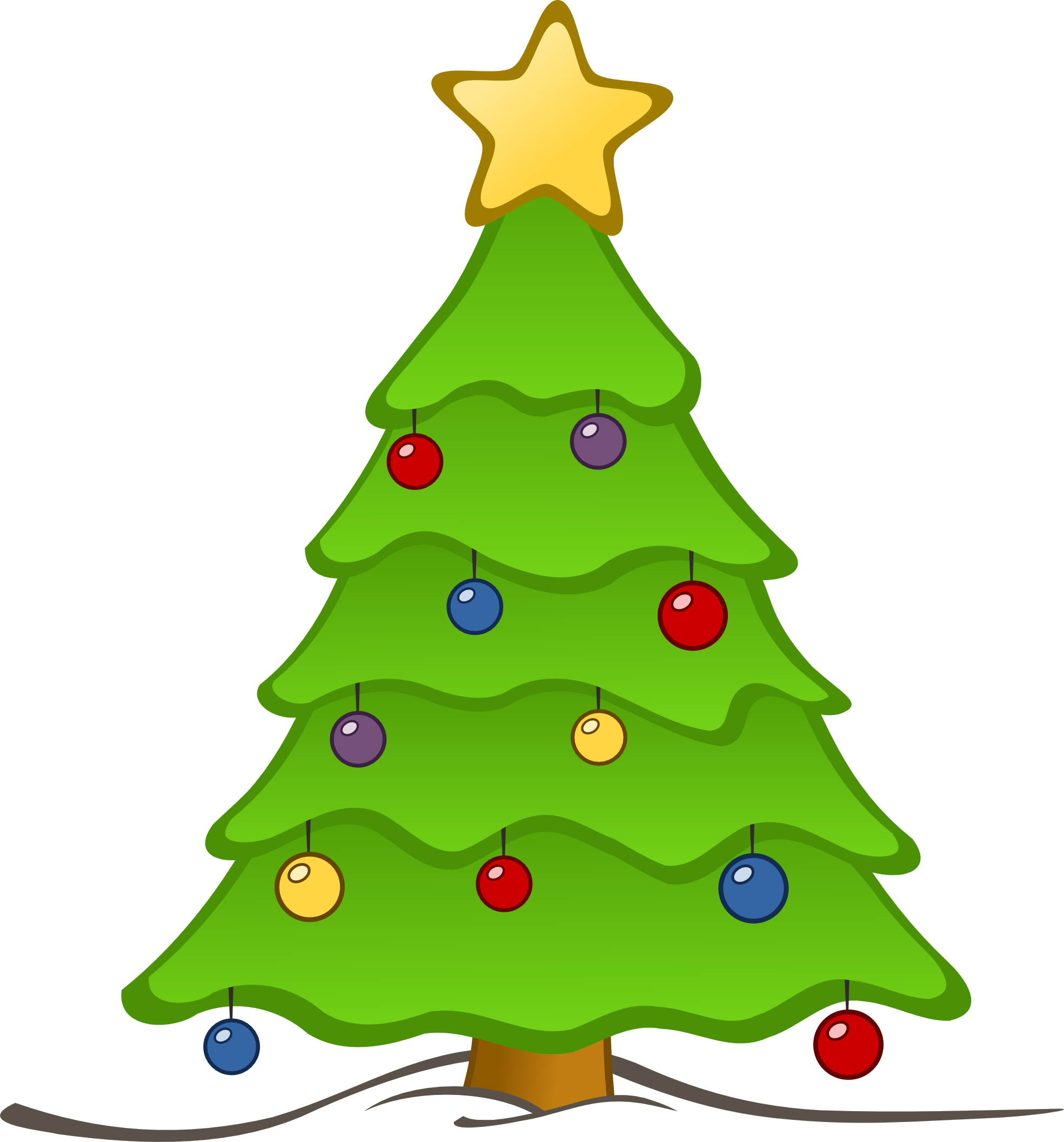 Christmas Tree clipart clear background Clipart Christmas collection Images Free