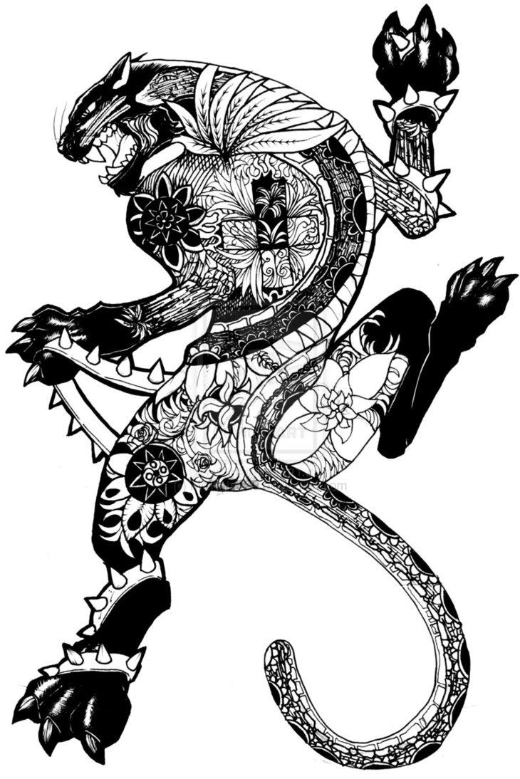 Black Panther clipart polynesian Panther Tattoo Tattoos sleek Black