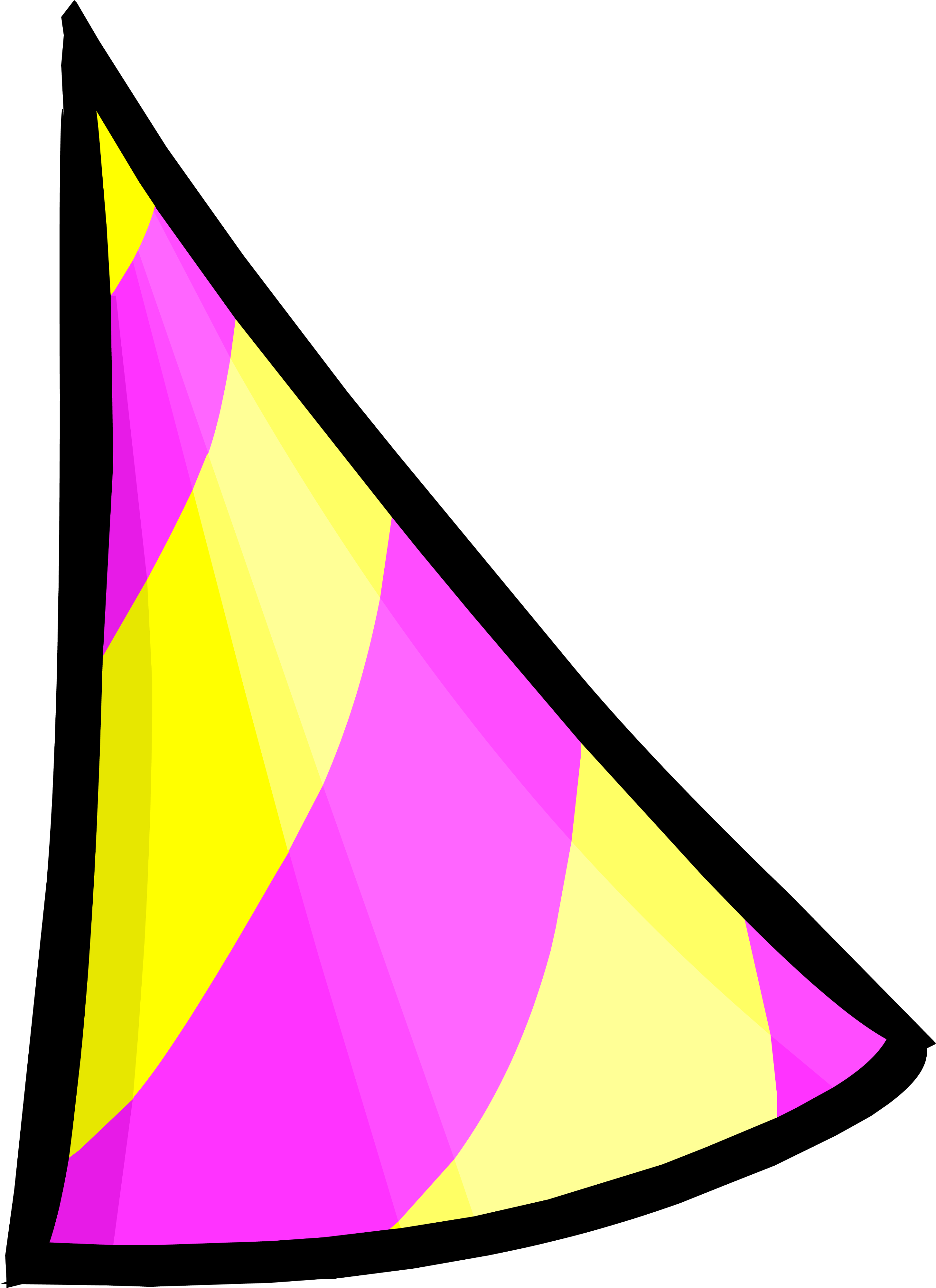 Triangle clipart item By Penguin Party FANDOM Club