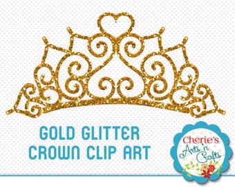 Mauve clipart princess crown Etsy Gold Art Clip Digital