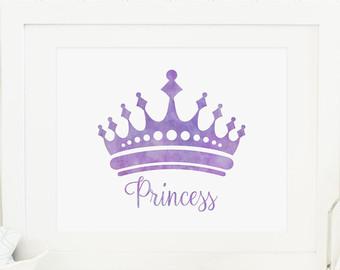 Mauve clipart princess crown Princess Princess Princess Nursery Crown