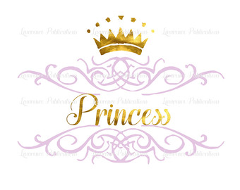 Mauve clipart princess crown Instand in Foil Etsy Art