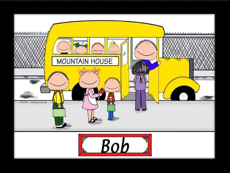 Mauve clipart school bus Cartoon  Driver Picture Personalized