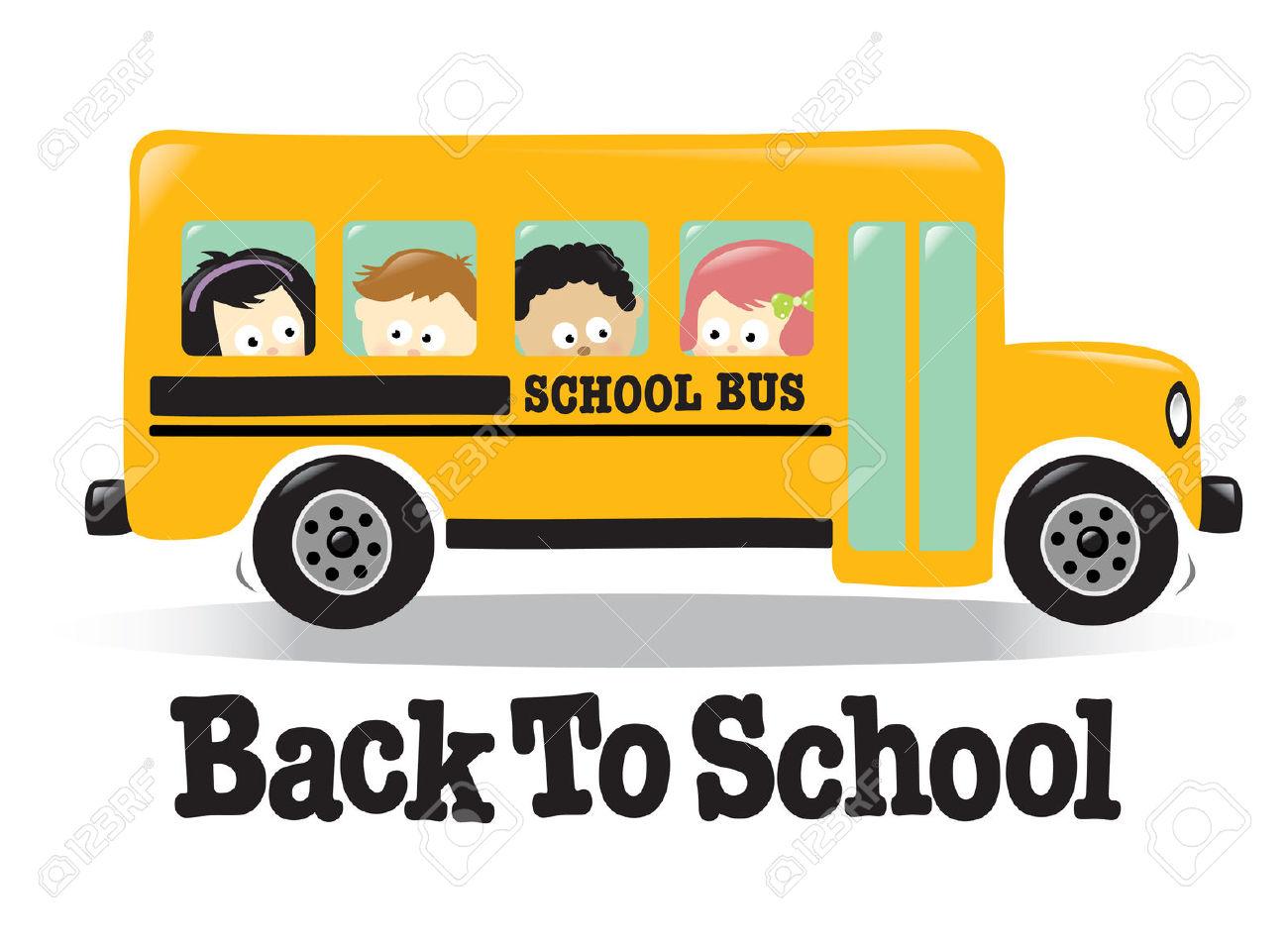 Mauve clipart school bus Bus Stock Busy w/ Vector