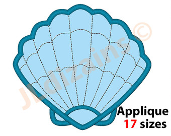 Mauve clipart seashell Applique design Seashell embroidery Etsy