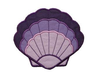 Mauve clipart seashell Applique Conch Seashell Design Ocean