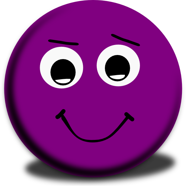 Smiley clipart purple Clip Smiley Winking  Smiley