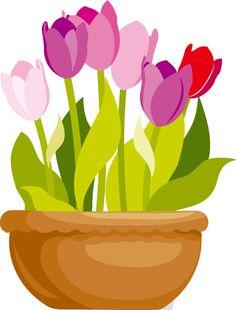 Petal clipart potted flower Elements_3 2 VASO Clipart FLÔRES