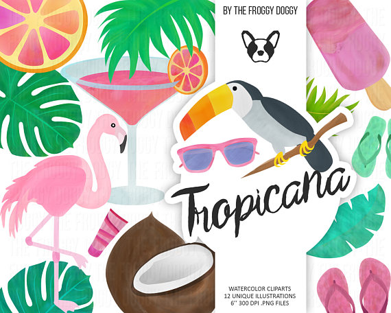 Vacation clipart resort Tropical Clipart Exotic Summer Clipart