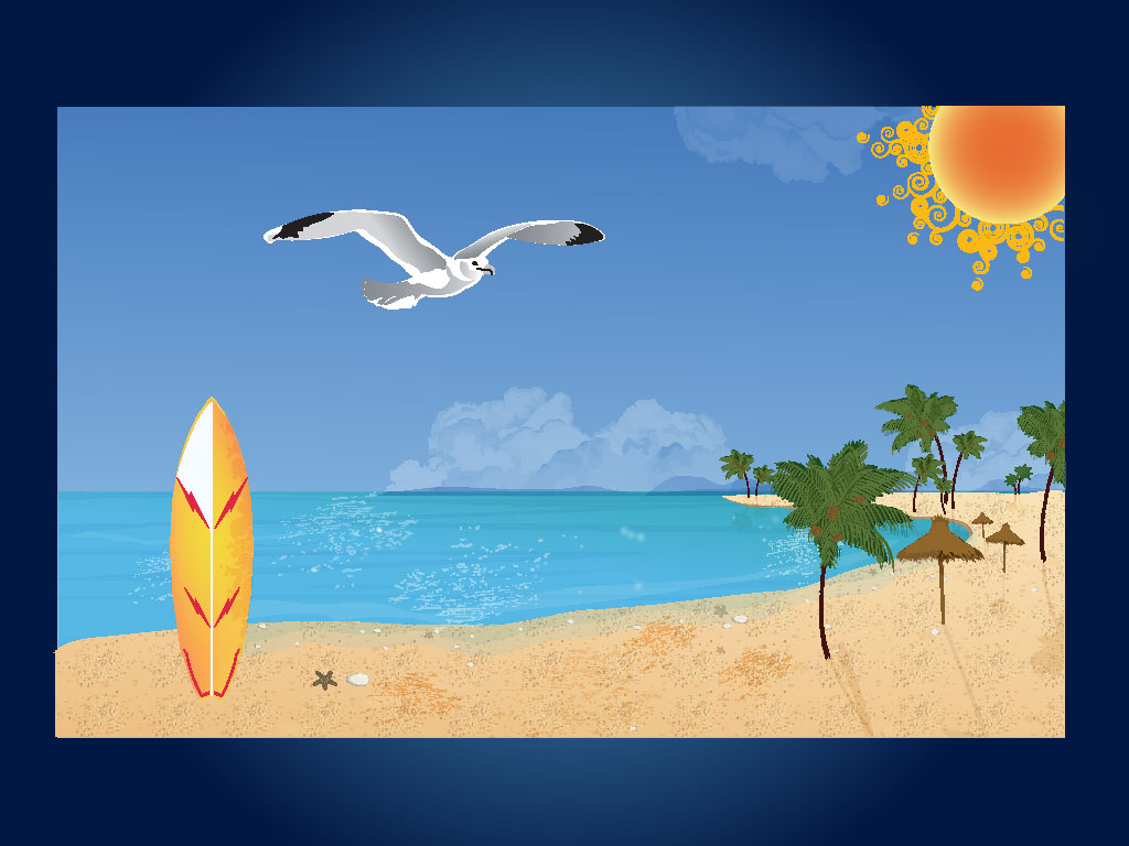 Tranquil clipart beach scenery #1