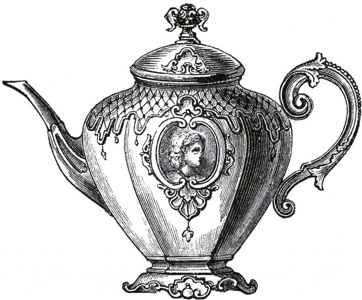 Mauve clipart teapot Set Free Public table about
