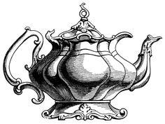Mauve clipart teapot And Vintage Vintage Teapot Decoration
