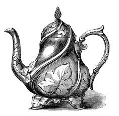 Mauve clipart teapot Style Vintage Clip Vintage Images
