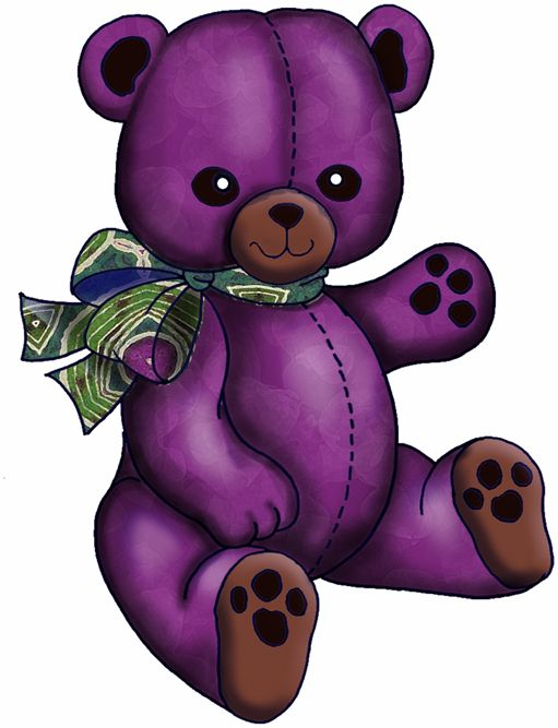 Doll clipart purple #8