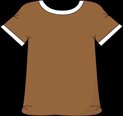 Brown clipart tshirt Tshirt White Brown a