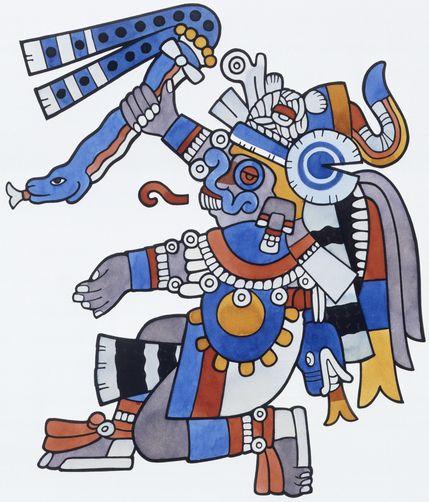 Aztec clipart aztec god #8