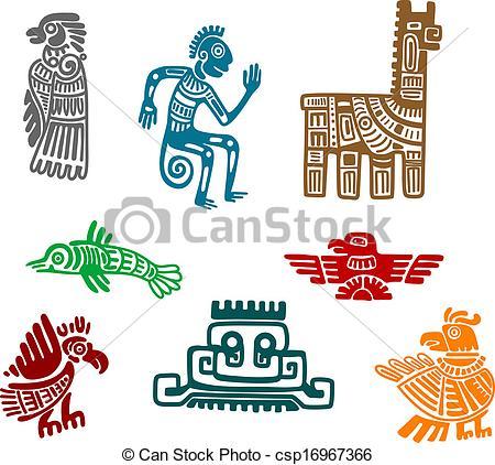 Aztec clipart drawing And  inca ancient Aztec
