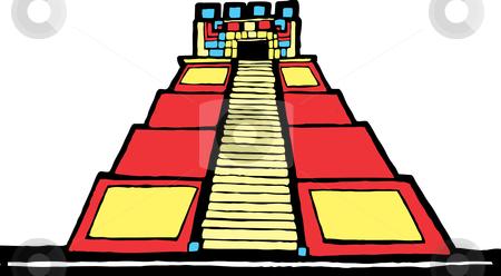 Mayan vector Pyramid Pyramid stock