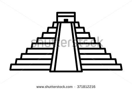 Drawn pyramid clipart Mayan Pyramid Download Clipart Pyramid
