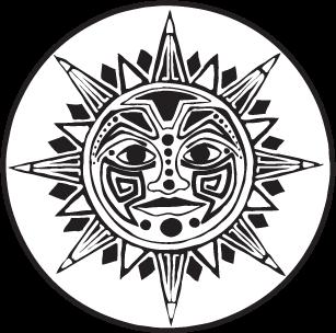 Aztec clipart aztec god #2