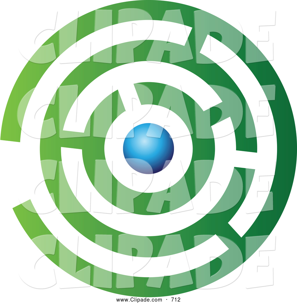Maze clipart abstract Green and Blue Complex Green