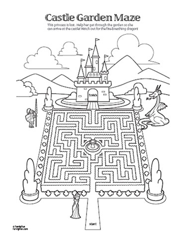Maze clipart activity page #11