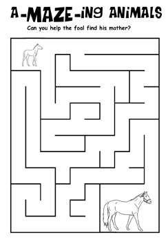 Maze clipart activity page #5
