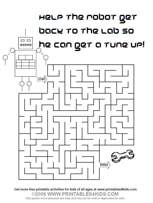 Maze clipart activity page #4