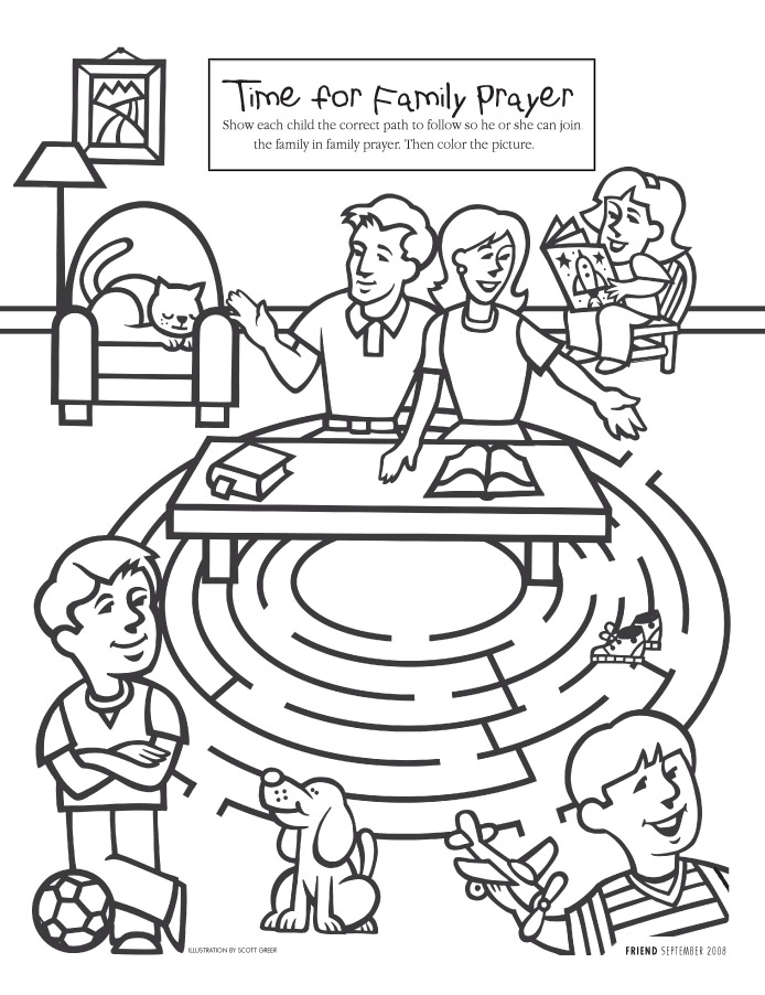 Maze clipart activity page #7