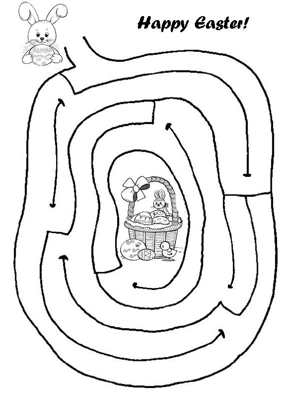 Maze clipart activity page #14