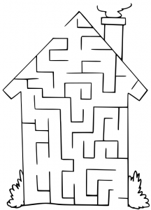 Maze clipart black and white Download Maze Clipart House Art