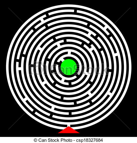 Maze clipart circle #3
