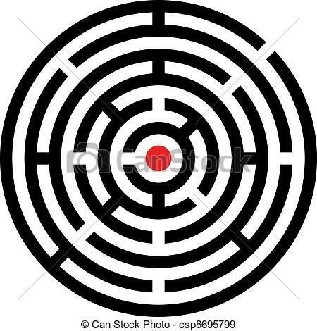 Maze clipart circle #4