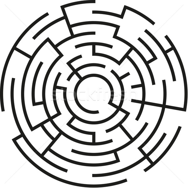Maze clipart circle #1