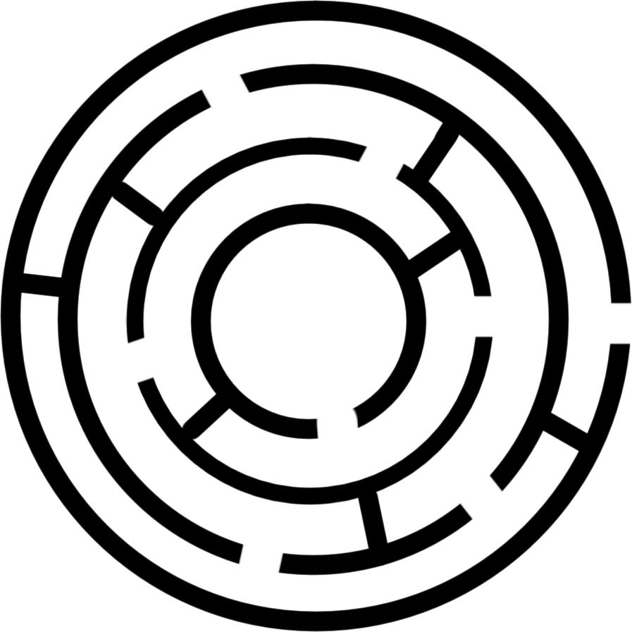 Maze clipart circle #2