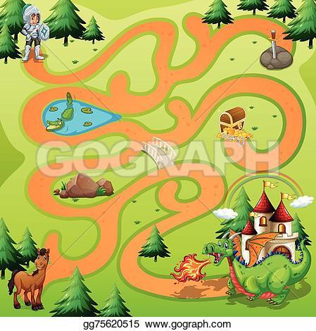 Maze clipart jungle #3