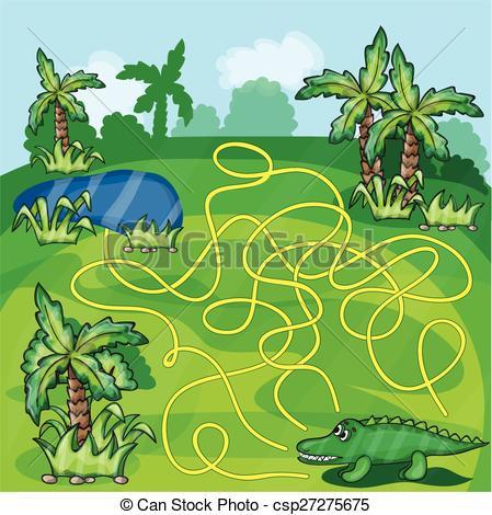 Maze clipart jungle #11