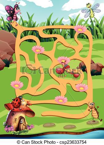 Maze clipart jungle #5