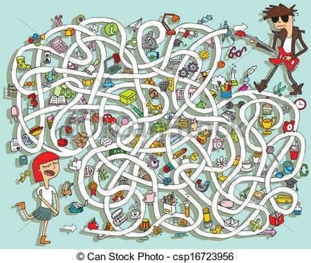 In in Maze Clipart csp16723956