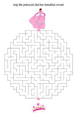 Maze clipart princess Maze — hard Maze printable