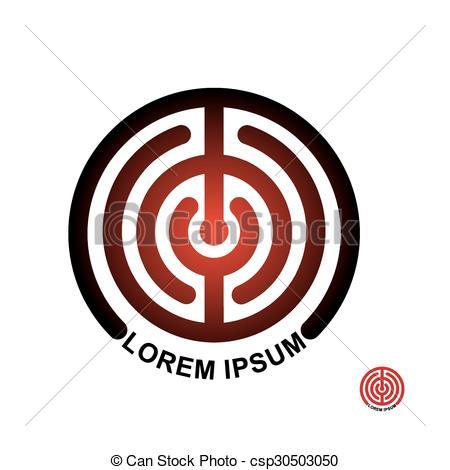 Maze clipart round Terms Circle logo Clipart emblem