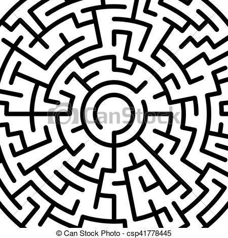 Maze clipart round Abstract EPS Illustration of csp41778445