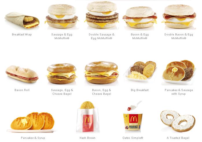 McDonald's clipart junk food Sims mcdonaldsukbreakfastmenu cookies Food Idea's