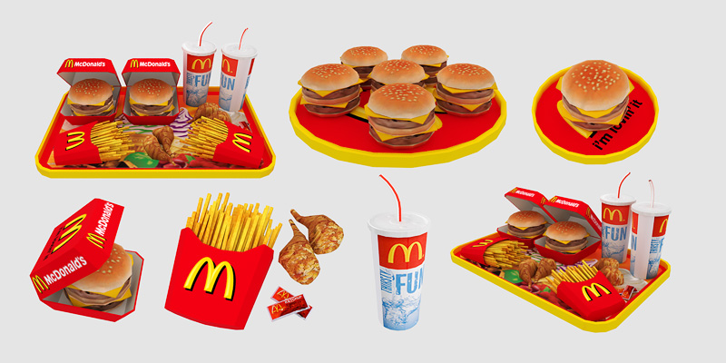 McDonald's clipart junk food Mod Food The Sims Advertisement: