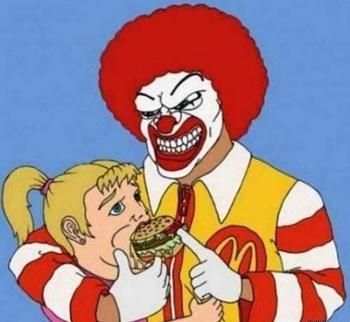 McDonald's clipart junk food Rather food! cartoon frightening Pinterest