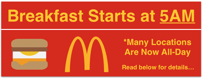 McDonald's clipart south africa Hours serving Breakfast UPDATE What