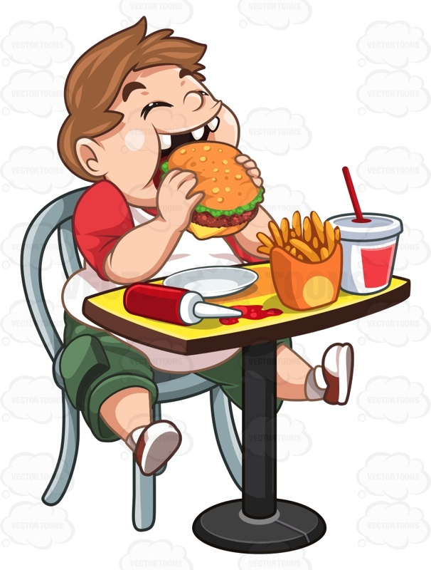 McDonald's clipart unhealthy diet Overweight Eating Table Ketchup Spilled