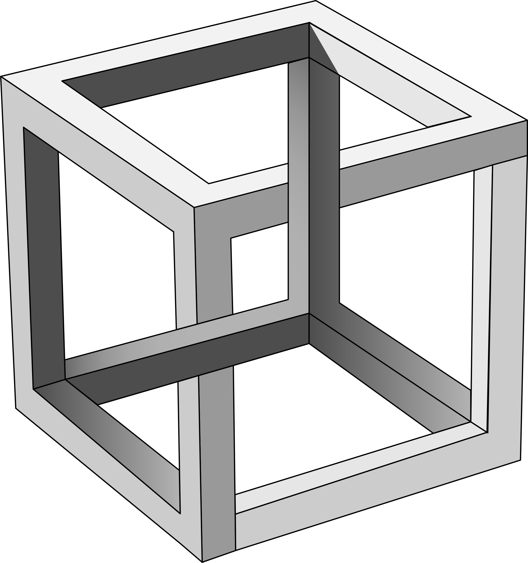 M.c.escher clipart pet Impossible Cube Cube MC Impossible